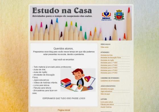 Alunos do Ensino Fundamental terão material disponível na internet