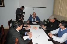 Comissão reunida na tarde do dia 15.