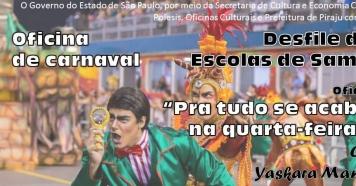 Abertas inscrições para oficina gratuita de Carnaval