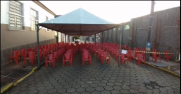 Prefeitura e Sabesp montam abrigo para Auxílio Emergencial
