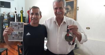 Prefeito recebe visita de José Carlos que representou Piraju na São Silvestre em SP.