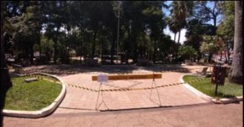 Praças de Piraju são fechadas para evitar aglomeração
