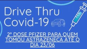 Drive Thru nesta terça-feira, 14/09