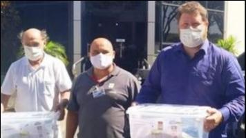 Hospital de Piraju recebe Capacetes Respiradores