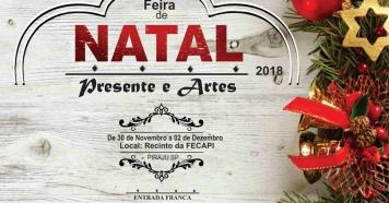 Feira de Natal- Presente e Artes começa nesta sexta, dia 30/11/18
